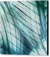 Nature Leaves Abstract In Turquoise And Jade Canvas Print by Natalie Kinnear
