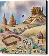 Navajo Sheepherder - Age 11 Canvas Print by Dawn Senior-Trask