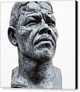 Nelson Mandela Statue Canvas Print by Jane Rix