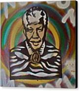 Nelson Mandela Canvas Print by Tony B Conscious