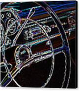 Neon 1957 Chevy Dash Canvas Print by Steve McKinzie