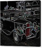 Neon Car Show Canvas Print by Steve McKinzie