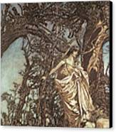 Never So Weary Never So Woeful Illustration To A Midsummer Night S Dream Canvas Print by Arthur Rackham