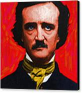 Nevermore - Edgar Allan Poe - Painterly Canvas Print by Wingsdomain Art and Photography