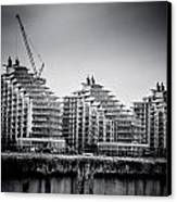 New Apartments In Battersea Canvas Print by Lenny Carter
