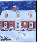 New England Christmas Canvas Print by Mary Helmreich