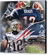 New England Patriots Canvas Print by Mike Oulton