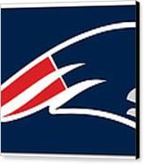 New England Patriots Canvas Print by Tony Rubino