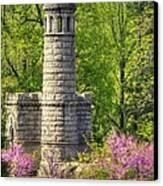 New York At Gettysburg - Monument To 12th / 44th Ny Infantry Regiments-2a Little Round Top Spring Canvas Print by Michael Mazaika