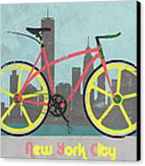 New York Bike Canvas Print by Andy Scullion
