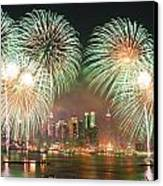 New York City Fireworks Canvas Print by Songquan Deng