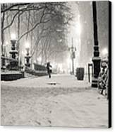 New York City Winter Night Canvas Print by Vivienne Gucwa