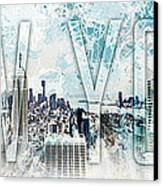 New York Digital-art No.1 Canvas Print by Melanie Viola