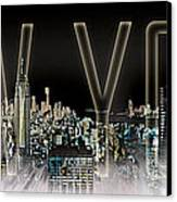 New York Digital-art No.2 Canvas Print by Melanie Viola