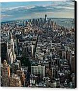 New York From A Birds Eyes - Fisheye Canvas Print by Hannes Cmarits