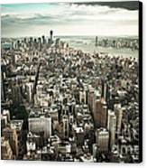 New York From Above - Vintage Canvas Print by Hannes Cmarits