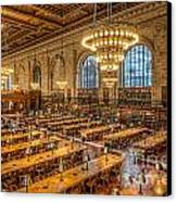 New York Public Library Main Reading Room Ix Canvas Print by Clarence Holmes