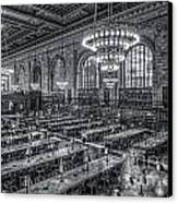 New York Public Library Main Reading Room X Canvas Print by Clarence Holmes