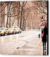 New York Rain - Greenwich Village Canvas Print by Vivienne Gucwa