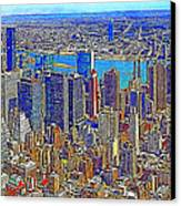 New York Skyline 20130430 Canvas Print by Wingsdomain Art and Photography