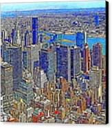 New York Skyline 20130430v3 Canvas Print by Wingsdomain Art and Photography
