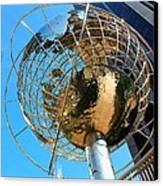 New York Steel Globe Canvas Print by Jenny Hudson