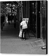New York Street Photography 26 Canvas Print by Frank Romeo