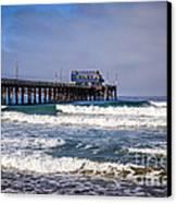 Newport Beach Pier In Orange County California Canvas Print by Paul Velgos