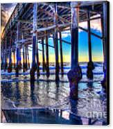 Newport Beach Pier - Low Tide Canvas Print by Jim Carrell