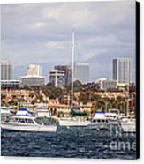 Newport Beach Skyline  Canvas Print by Paul Velgos