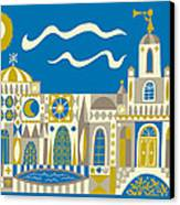 Newport Beach Temple Canvas Print by Parker  Jacobs