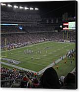 Nfl Patriots And Tom Brady Showtime Canvas Print by Juergen Roth