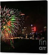 Niagara Falls Fireworks Canvas Print by Charline Xia