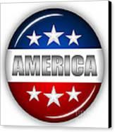 Nice America Shield Canvas Print by Pamela Johnson
