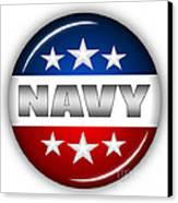 Nice Navy Shield Canvas Print by Pamela Johnson