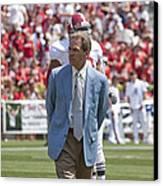 Nick Saban Head Football Coach Of Alabama Canvas Print by Mountain Dreams