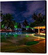 Night At Tropical Resort 1 Canvas Print by Jenny Rainbow