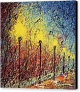 Night In The Park II Canvas Print by Ash Hussein