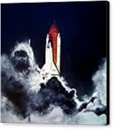 Night Launch Canvas Print by Murphy Elliott