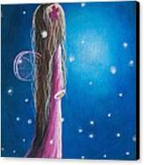 Night Of 50 Wishes Fairy Print By Shawna Erback Canvas Print by Shawna Erback