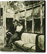 Night On The El Train Canvas Print by Edward Hopper