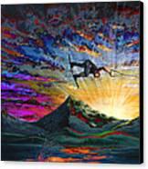 Night Ride Canvas Print by Teshia Art
