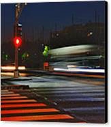 Night Streaks Canvas Print by Joann Vitali