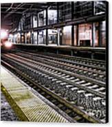 Night Train Canvas Print by Olivier Le Queinec