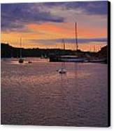 Nightfall On Mystic River 1 Canvas Print by John Hoey