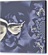 Nights In White Satin Canvas Print by Absinthe Art By Michelle LeAnn Scott