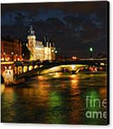 Nighttime Paris Canvas Print by Elena Elisseeva