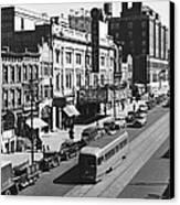 Ninth Street In Brooklyn Canvas Print by Underwood Archives