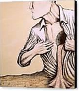 No Quiero Vivir En La Pobreza De La Racionalidad Canvas Print by Paulo Zerbato