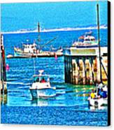 No Wake Zone Gate Canvas Print by Joseph Coulombe